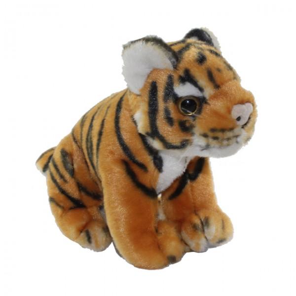 pl schtier tiger 16 cm sitzend panther leopard stofftier kuscheltier kinder spiele und spielzeug. Black Bedroom Furniture Sets. Home Design Ideas