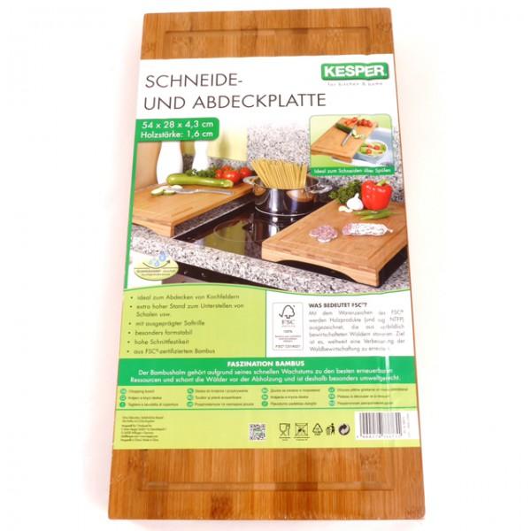 kesper schneide und abdeckplatte bambus holz herd k che. Black Bedroom Furniture Sets. Home Design Ideas