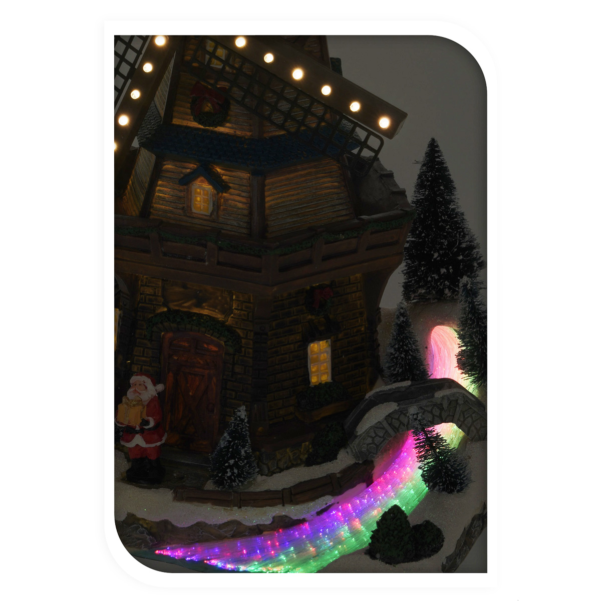 weihnachtsszene windm hle led beleuchtung christmas weihnachten deko santa feste und feiertage. Black Bedroom Furniture Sets. Home Design Ideas
