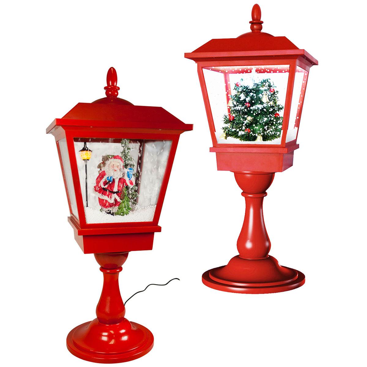 tischlaterne 65cm lampe rot baum santa claus weihnachten. Black Bedroom Furniture Sets. Home Design Ideas