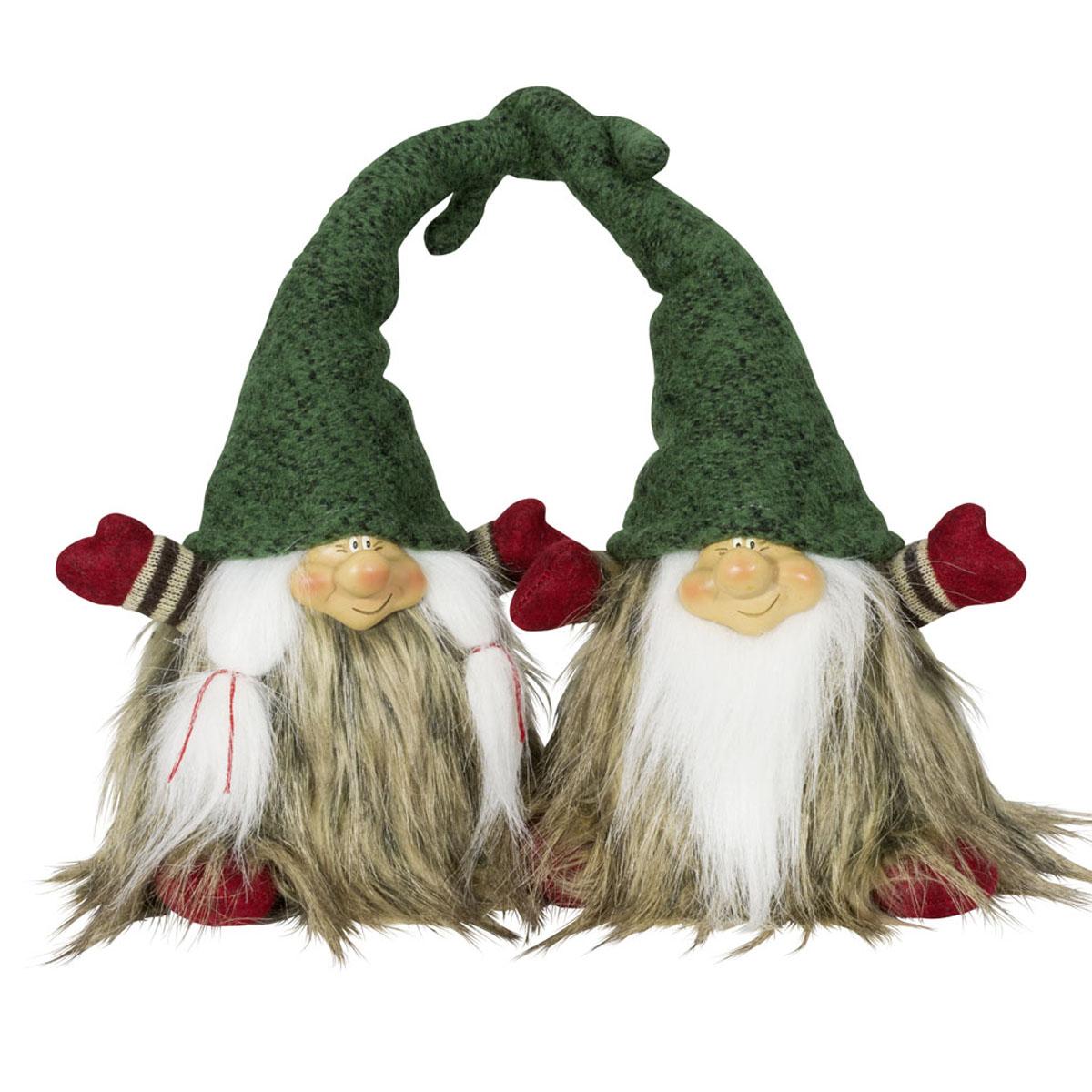 2er set gnome gr ne m tze figur herz weihnachten deko mann. Black Bedroom Furniture Sets. Home Design Ideas