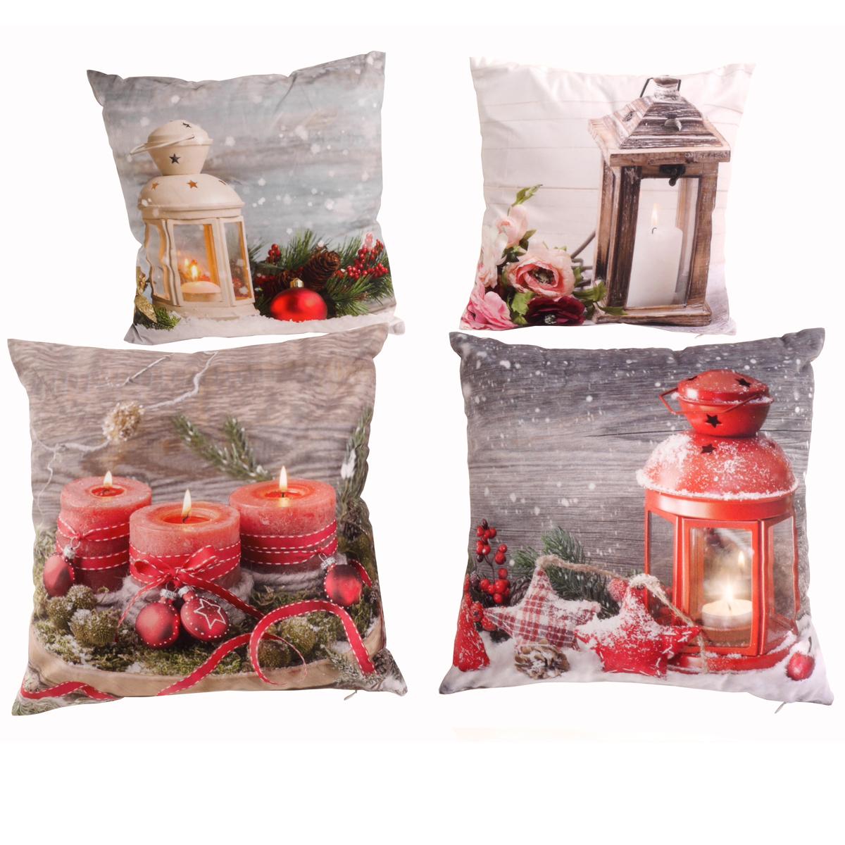 Dekokissen led winter design weihnachten sofa 40x40 cm - Dekokissen weihnachten ...