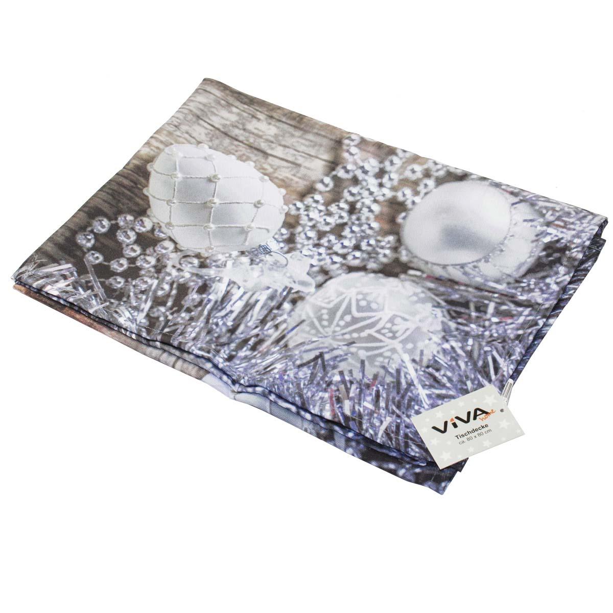 tischdecke weihnachten 80x80 wasserabweisend tisch decke winter deko advent ebay. Black Bedroom Furniture Sets. Home Design Ideas