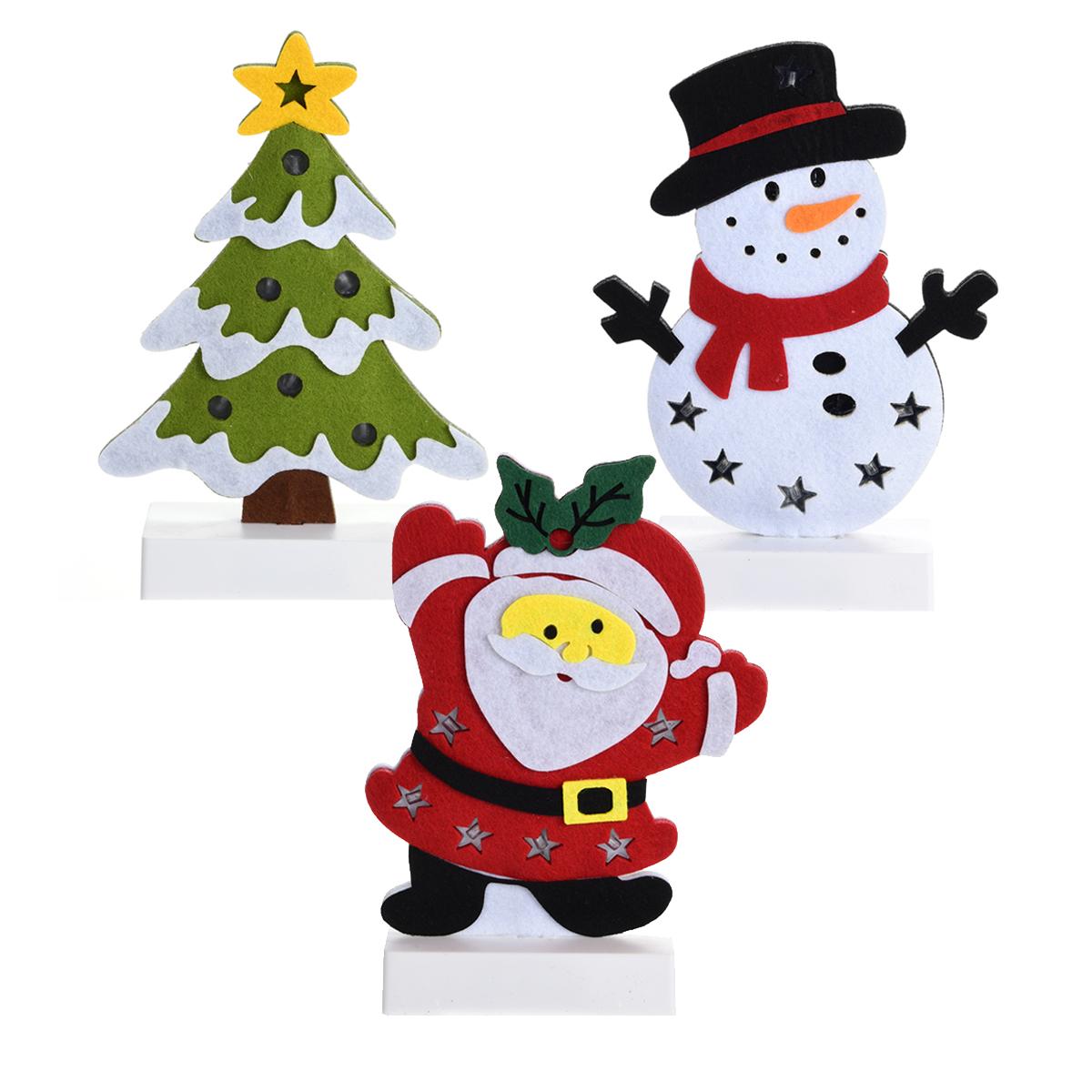 weihnachtsfigur aufsteller led 25cm filz winter beleuchtung weihnachten schnee feste und. Black Bedroom Furniture Sets. Home Design Ideas