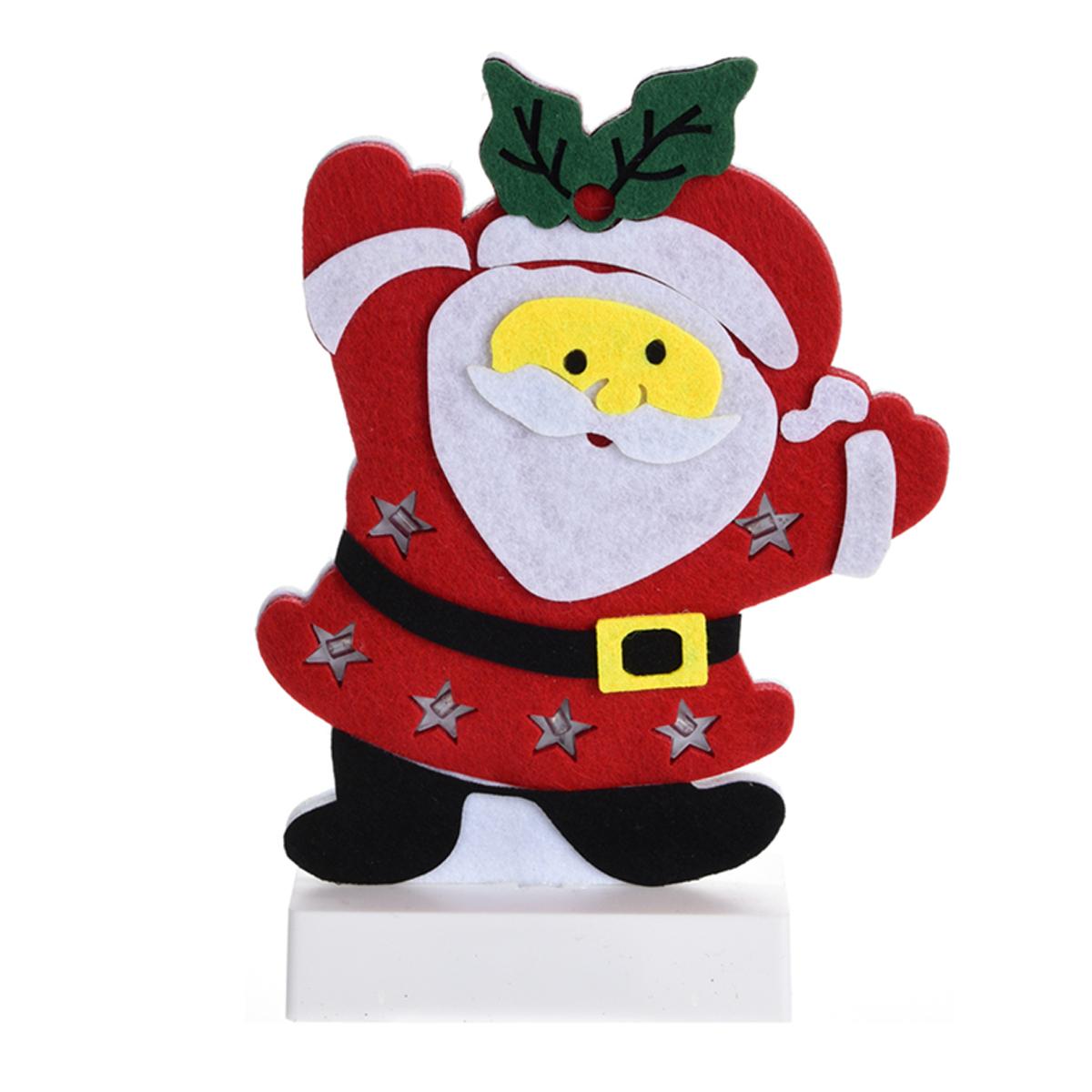 weihnachtsfigur aufsteller led 25cm filz winter beleuchtung weihnachten schnee ebay. Black Bedroom Furniture Sets. Home Design Ideas