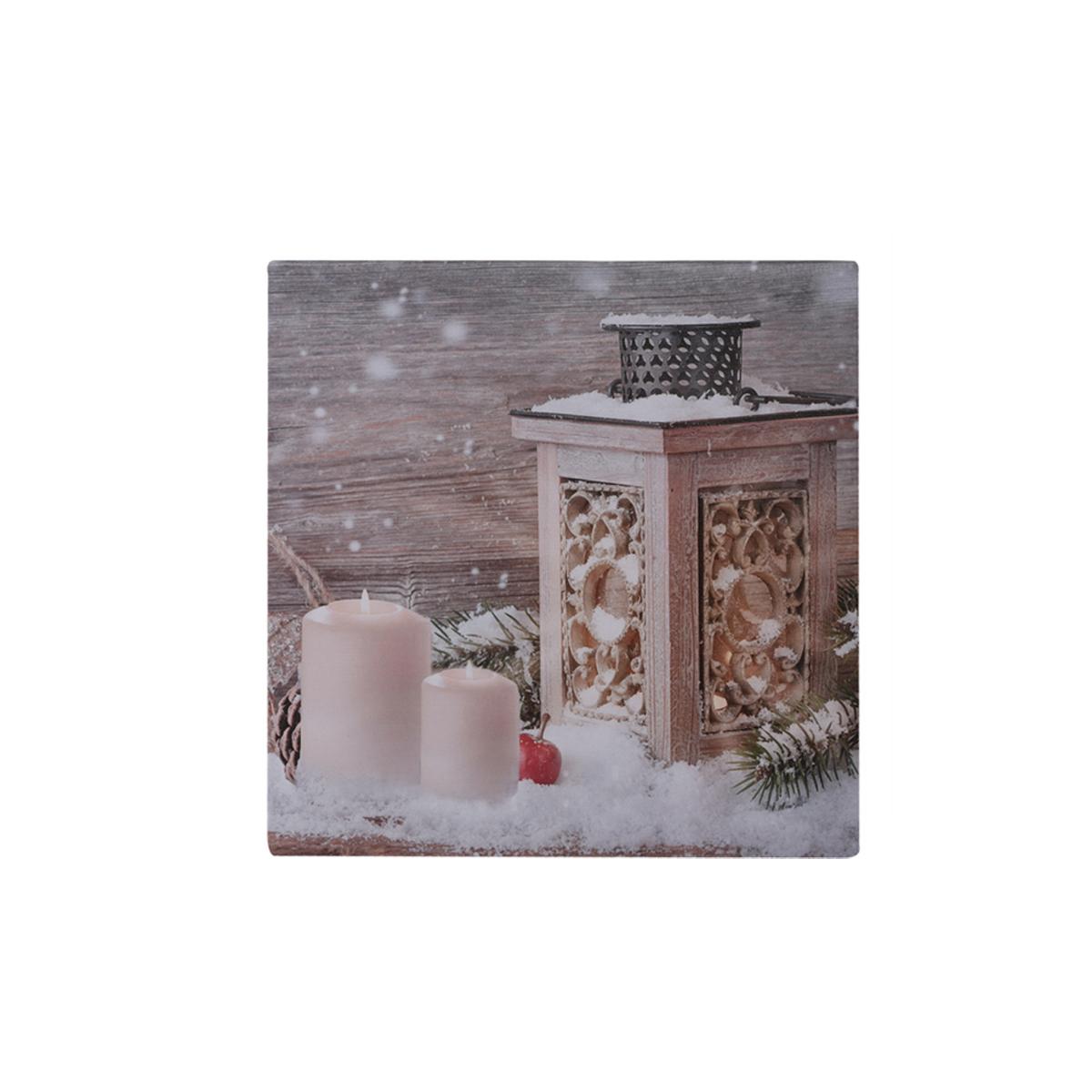 led leinwand bild zum aufh ngen weihnachten winter deko geschenk wand dekoration ebay. Black Bedroom Furniture Sets. Home Design Ideas