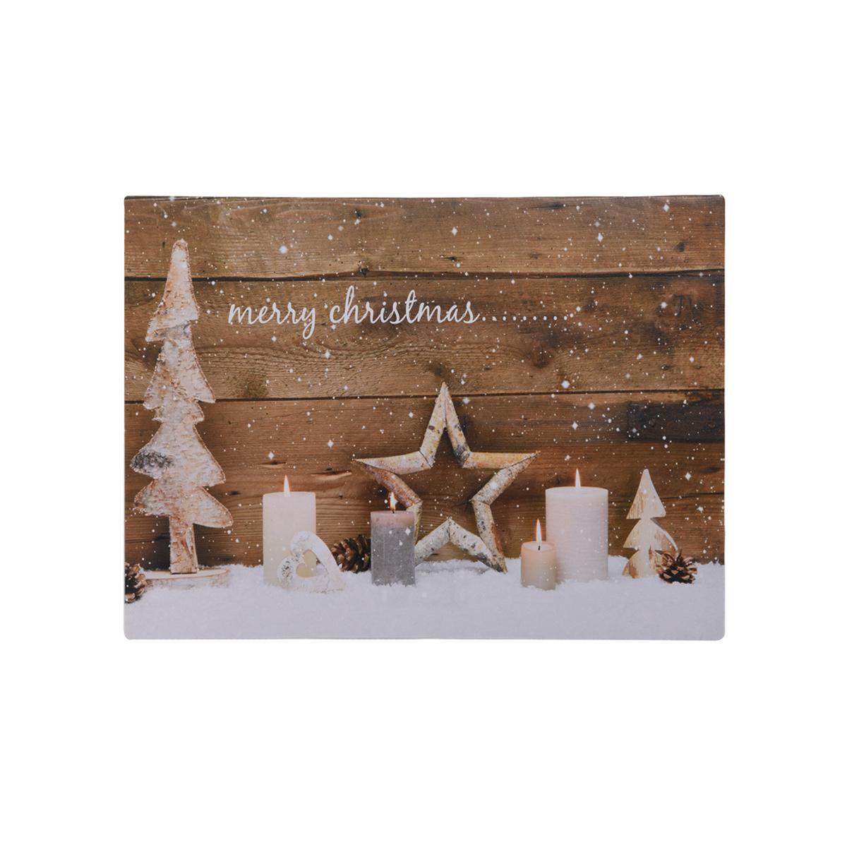 led leinwand bild zum aufh ngen weihnachten winter deko geschenk wand dekoration feste und. Black Bedroom Furniture Sets. Home Design Ideas