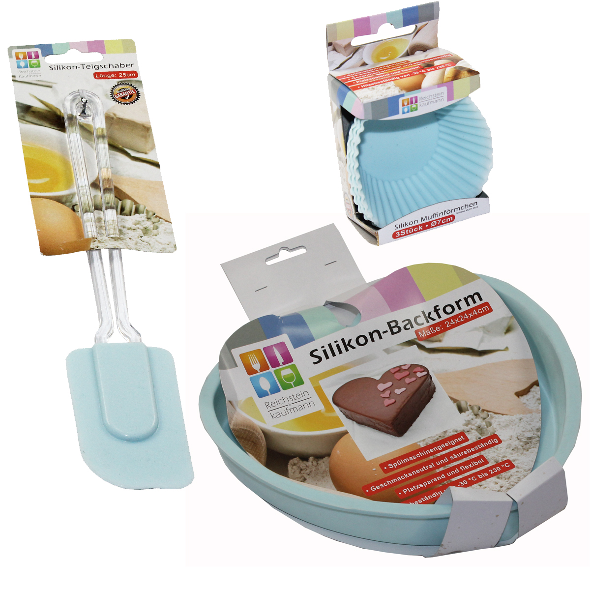 5tlg set backform herz teigschaber muffinf rmchen silikon backen k che rosa k che und. Black Bedroom Furniture Sets. Home Design Ideas