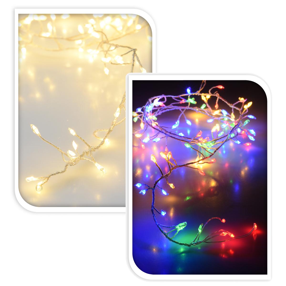 cluster lichterkette 100 led b schel girlande weihnachten. Black Bedroom Furniture Sets. Home Design Ideas