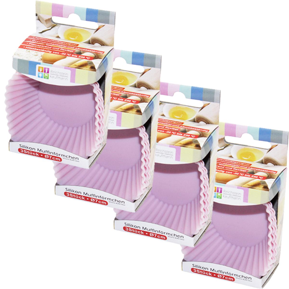 12er set backform muffin f rmchen silkon rosa blau 7cm k che backen geburtstag k che und. Black Bedroom Furniture Sets. Home Design Ideas