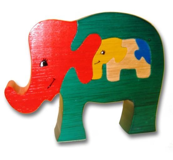 woodbrix 3d holzpuzzle grosser elefant kinderpuzzle puzzle holz holzspielzeug spiele und. Black Bedroom Furniture Sets. Home Design Ideas