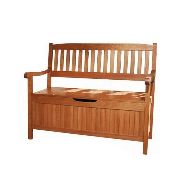 truhenbank houston holz gartenbank mit staufach 2 sitzer. Black Bedroom Furniture Sets. Home Design Ideas