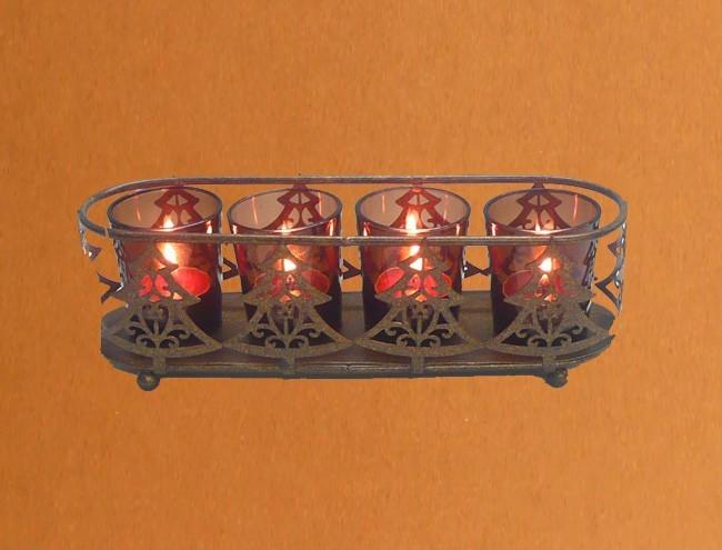 Kerzenst nder tannenbaum windlicht teelicht weihnachtsdeko for Tannenbaum kerzenhalter