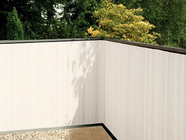 balkonsichtschutz weiss 90x300 kunststoff sichtschutzmatte balkonverkleidung balkonbespannung. Black Bedroom Furniture Sets. Home Design Ideas