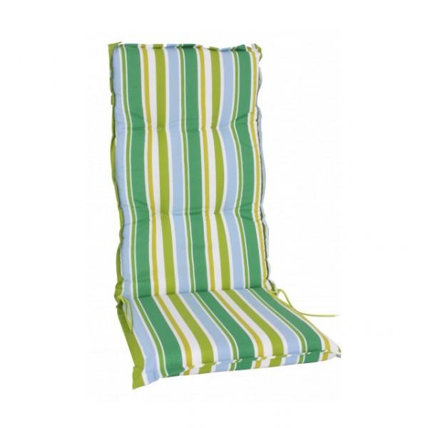polsterauflage gr n gestreift hochlehnerauflage kissen polster 8cm f r hochlehner gartenstuhl. Black Bedroom Furniture Sets. Home Design Ideas