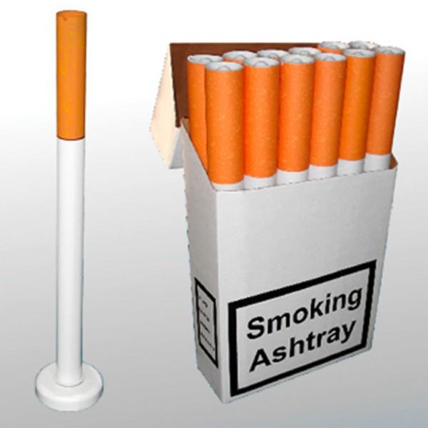 standaschenbecher in zigarettenform mit fu aschenbecher f r drau en outdoor ascher zigarette. Black Bedroom Furniture Sets. Home Design Ideas
