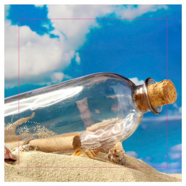 Bilder Auf Keilrahmen Flaschenpost Leinwand Muschelperlen Strandmotiv  39x39cm Wählbar U2013 Bild 4