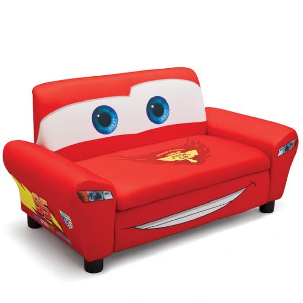 Disney Cars 2er Sofa Gepolstert Rot Aufklappbar Sessel