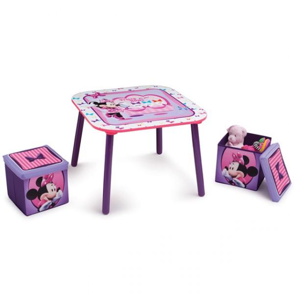 disney minnie mouse sitzgruppe 60x60 cm mit aufbewahrungsbox kindersitzgruppe kindersitzgarnitur. Black Bedroom Furniture Sets. Home Design Ideas