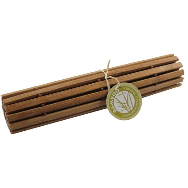 Platzset bambus holz platzdeckchen platzmatten braun creme for Esstisch holz dunkelbraun
