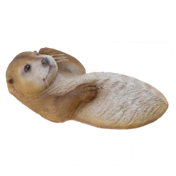 schwimmtier otter teichfigur gartendekoration tier. Black Bedroom Furniture Sets. Home Design Ideas