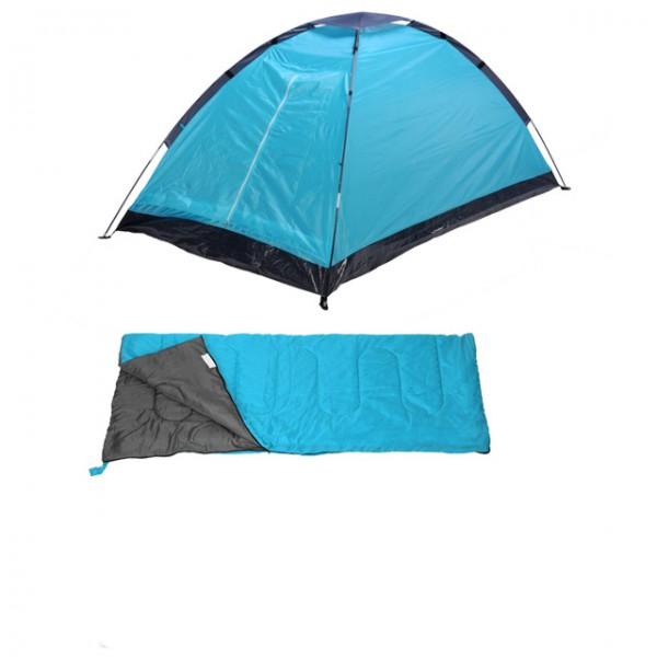 camping set 4in1 2 personen camping zelt schlafsack. Black Bedroom Furniture Sets. Home Design Ideas