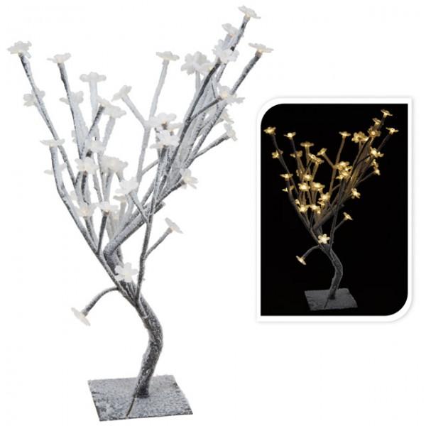 48 led winter lichterbaum beschneit bl tenbaum 45cm warm wei schneebaum weihnachtsbaum deko. Black Bedroom Furniture Sets. Home Design Ideas