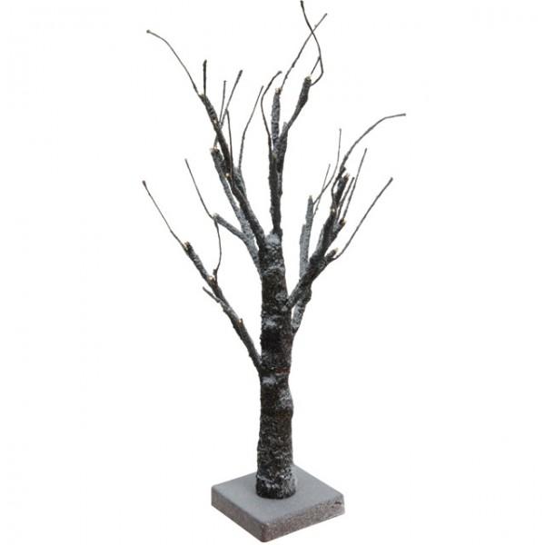 24 led winter lichterbaum beschneit braun 45cm warm wei schneebaum weihnachtsbaum deko. Black Bedroom Furniture Sets. Home Design Ideas