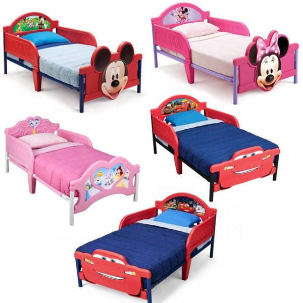 Disney 3D Kinderbett Lightning McQueen Princess Mickey Minnie Bett ...