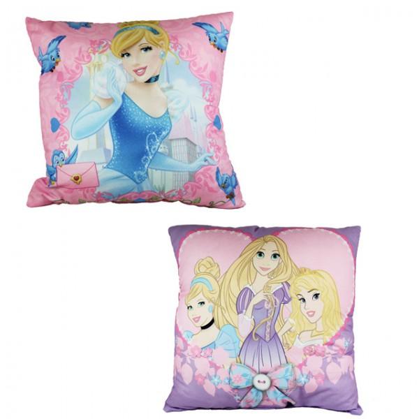 disney princess kopfkissen lila oder pink 40x40 dekokissen kissen schlafkissen kissenbezug baby. Black Bedroom Furniture Sets. Home Design Ideas