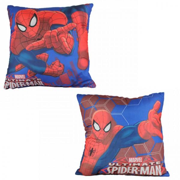 marvel spiderman kopfkissen kissen 40x40 dekokissen kinderzimmer schlafkissen kissenbezug blau. Black Bedroom Furniture Sets. Home Design Ideas
