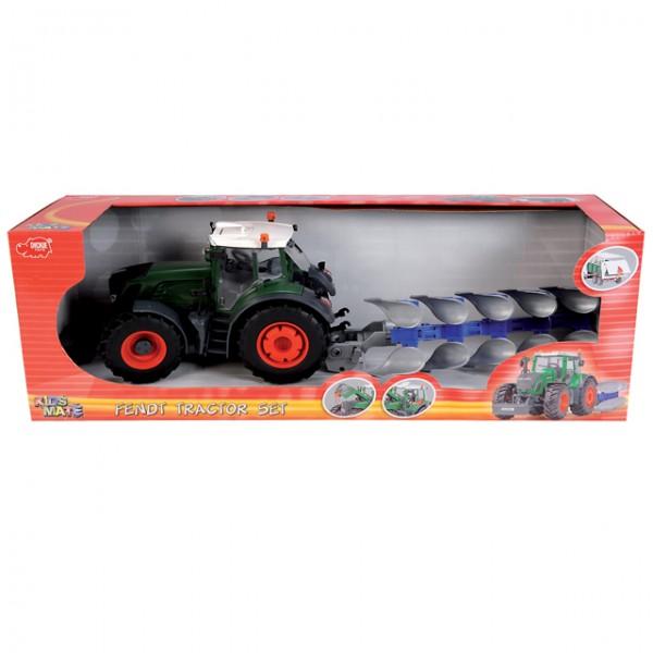Dickie spielzeug fendt traktor set landmaschine bauernhof
