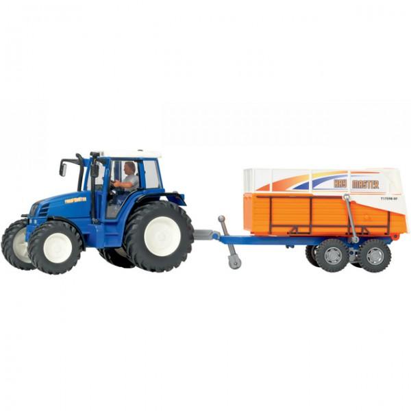 Dickie spielzeug farm traktor set trecker anhänger