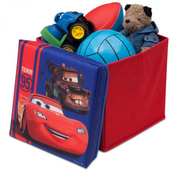 disney cars lizenziert canvas spielzeugkiste aufbewahrungsbox mit deckel box truhe m bel wohnen. Black Bedroom Furniture Sets. Home Design Ideas