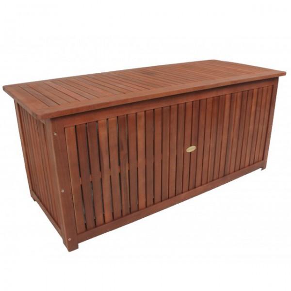 massive auflagenbox plano holz mit innentasche eukalyptus kissenbox gartenbox aufbewahrung haus. Black Bedroom Furniture Sets. Home Design Ideas