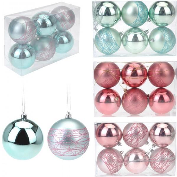6 tlg set weihnachtskugeln 8 cm weihnachten baumschmuck christbaumkugeln kugel feste und. Black Bedroom Furniture Sets. Home Design Ideas