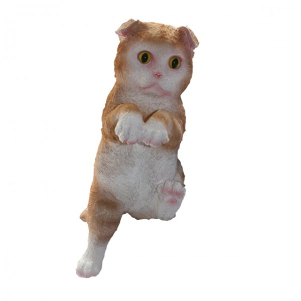 Deko katze polyresin figur zum aufh ngen kater tierfigur for Figuren gartendekoration
